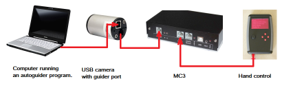 Connecting MC3 to a guider camera