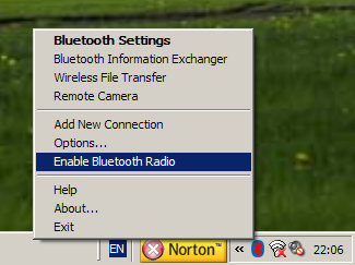 Bluetooth device setup. Step 1.