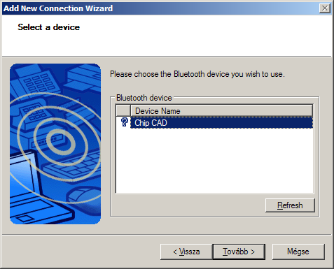 Bluetooth device setup. Step 2.